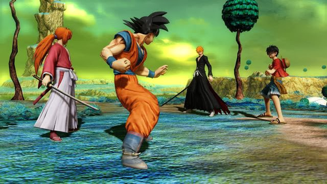 J-Stars Victory Vs, Shounen, Jump, Weekly Shounen Jump, Anime collaboration, games, PS3, Playable Characters, Screenshots, Goku, Luffy, Ichigo, Kenshin
