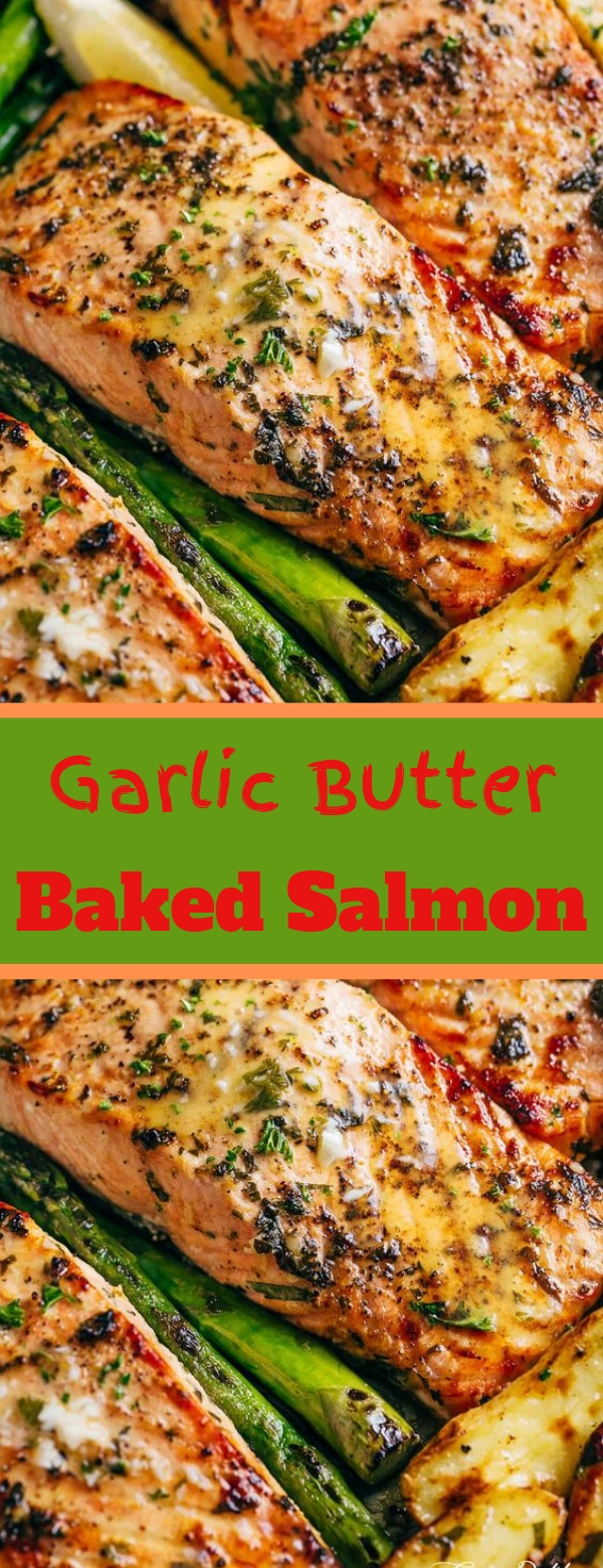 Garlic Butter Baked Salmon #GARLIC #BUTTER #SALMON #DINNER