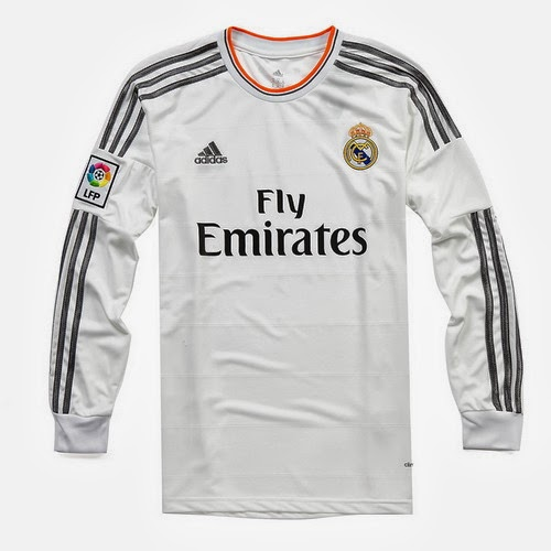 a04ecf19f50e8 Real Madrid manga larga segunda camiseta futbol adidas 2013-2014. €17.9