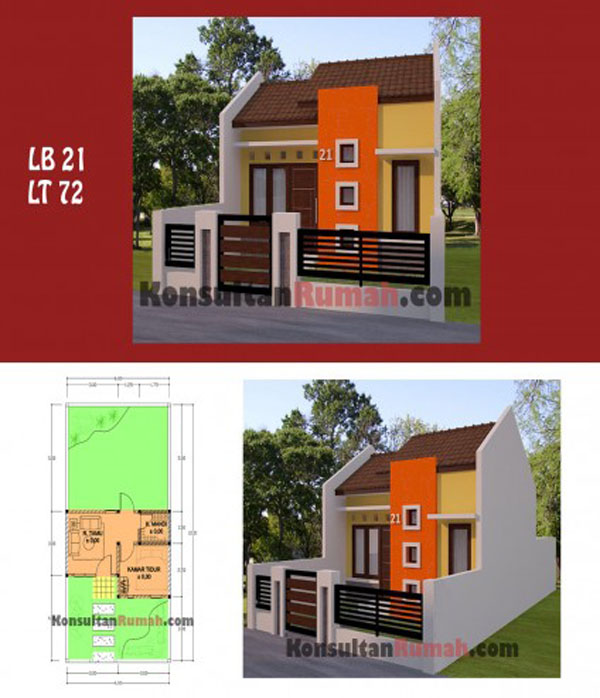 Contoh Model Rumah Minimalis Type 21, 36, 45, 54 & 60 ...
