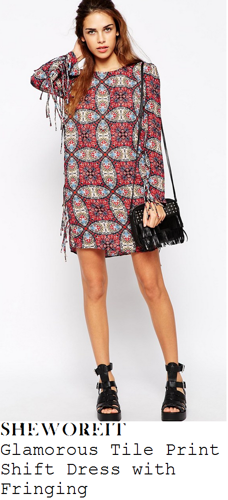 fearne-cotton-multi-scarf-tile-print-long-sleeve-fringed-dress