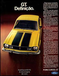 propaganda 1972 - Ford Corcel GT-1973, Ford Willys anos 70, carro antigo Ford, década de 70, anos 70, Oswaldo Hernandez,