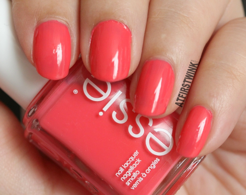Essie nail polish cute as a button warm coral glossy