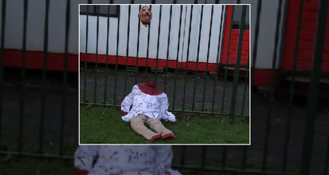 Islamophobia! Spanduk Anti-Islam dengan Boneka Dipenggal Ditaruh di Masjid Amsterdam
