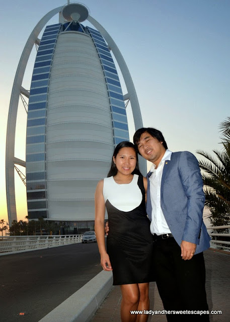Ed and Lady in Burj Al Arab
