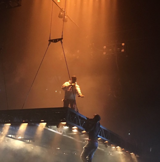 Kanye Saint Pablo Tour Fan Climbs Stage Atlanta