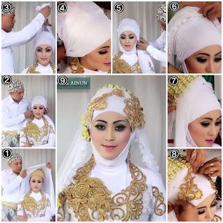 Gambar Tutorial Hijab Untuk Kebaya Modern