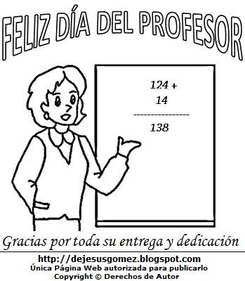 Dibujos Fotos Acrostico Y Mas Dibujos Por El Dia Del Profesor Para