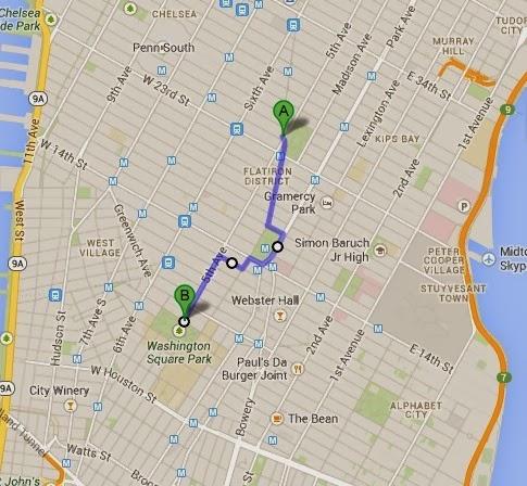 Ccny By Bike Madison Square Park To Washington Square Park