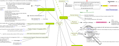 Angina Pectoris Diagnosis Mind Map