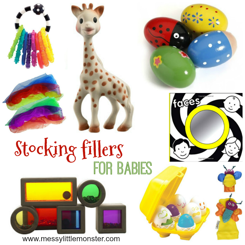 Stocking fillers for babies. Baby stocking stuffers