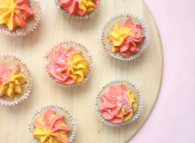vegan chia jam cupcakes