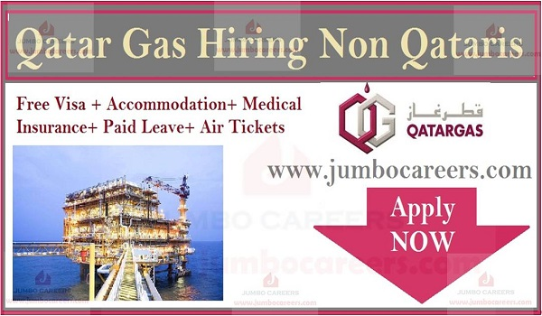 Qatar Gas Free Staff Recruitment March 2019 Hiring Non