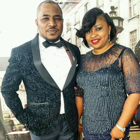 Nigerian comedian Tee A and his wife