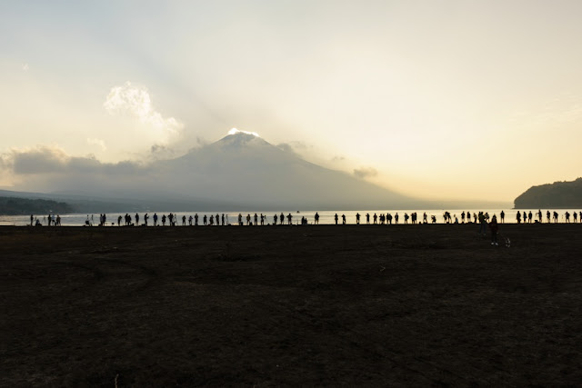 山中湖平野からの富士山