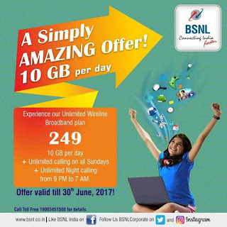 BSNL offers 10GB data per day, unlimited calls at Rs 249