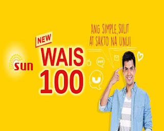 Sun WAIS100 – 100 Pesos Unli Call and Text Promo for 15 Days
