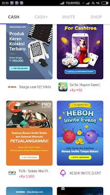 CashTree apikasi android penghasil Pulsa dan Smartphone