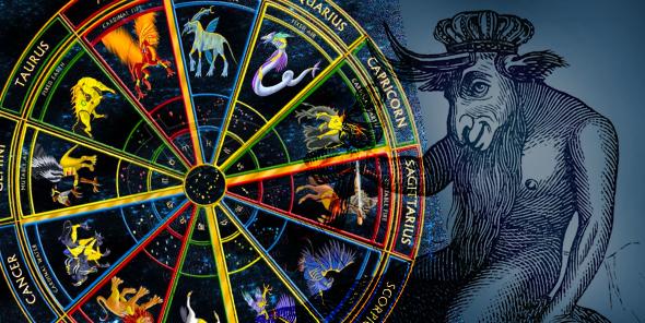 signos zodiacales con demonio cabeza de cabra
