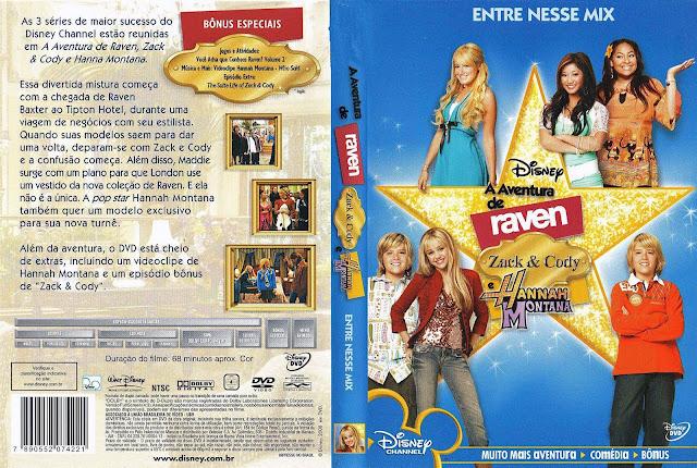 Capa DVD A Aventura de Raven, Zack & Cody e Hannah Montana
