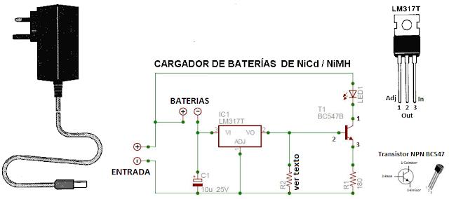 Circuito Sencillo : Old bits sencillo cargador de baterias nicd o nimh