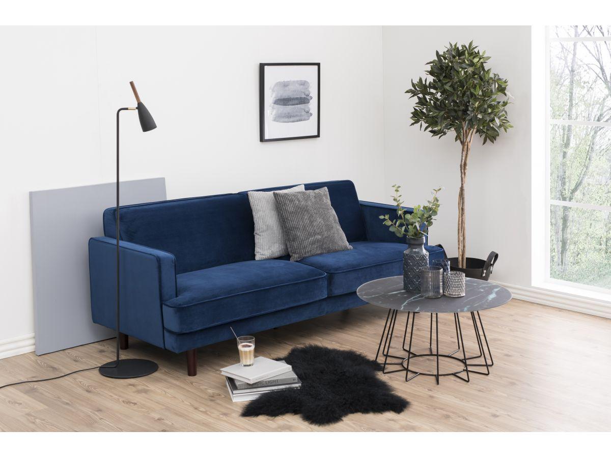Sofa tapicerowana z zamszu