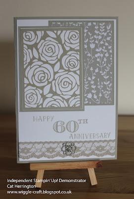 Stampin' Up! 60th Wedding Anniversary