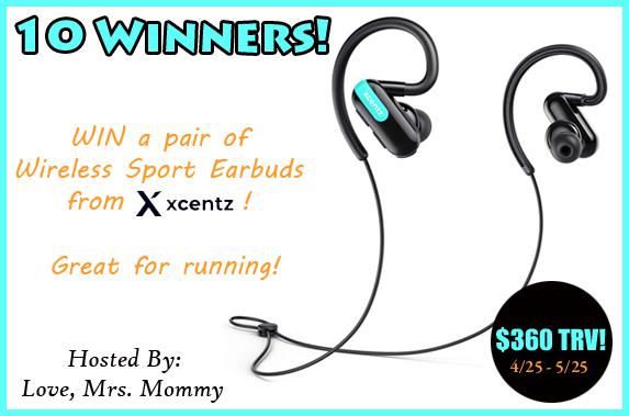 10 Winner Xcents Wireless Earbud Giveaway