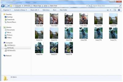 Cara mengaktifkan view Thumbnail File Gambar di Windows 7