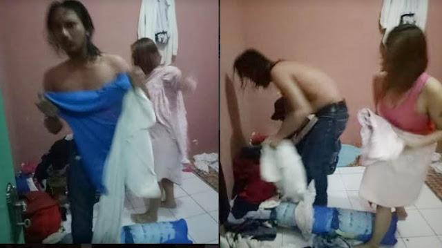 Janda Muda Digerebek Saat Sedang Indehoy Dengan Pacarnya Di Kamar Kos.