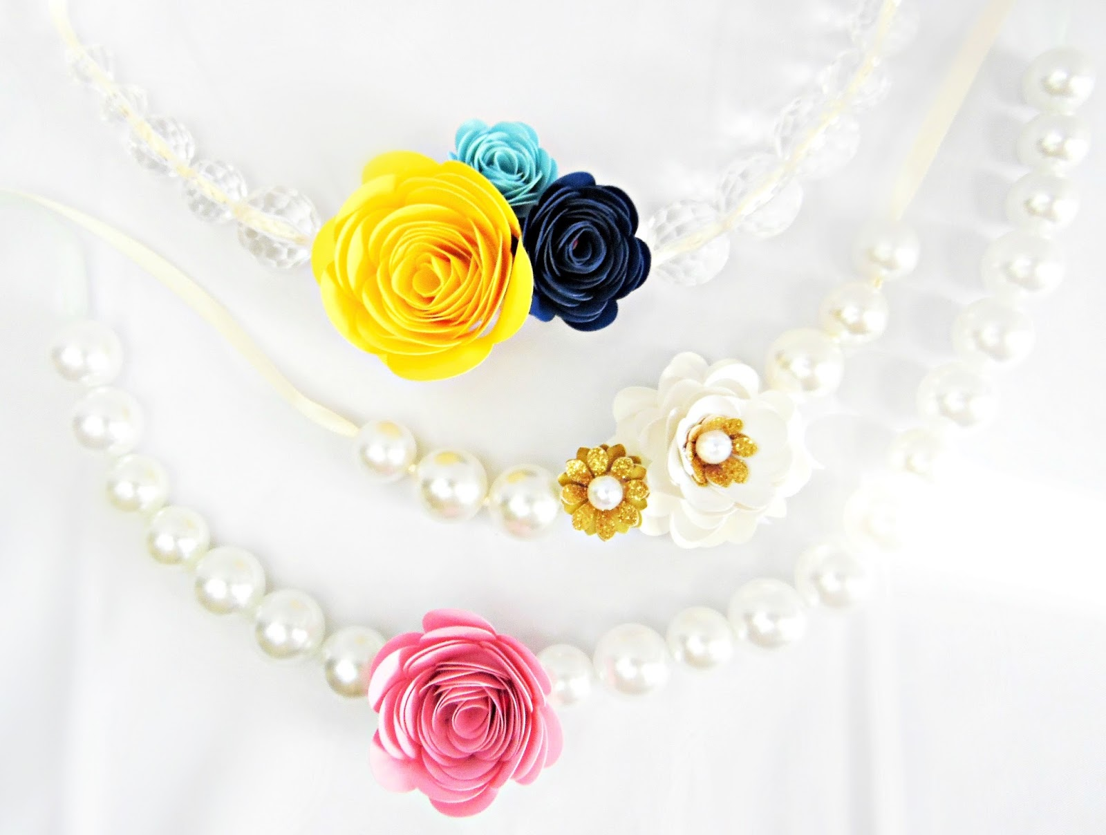 Mamas gone crafty diy paper flower statement necklace a pretty paper flower statement necklace a great craft to do with your daughter or just to accessorize yourself mightylinksfo