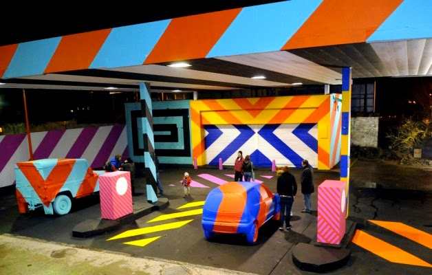 """No.27 - A nod to Ed Ruscha"" New Street Installation By Irish Artist Maser in Limerick City. 2"