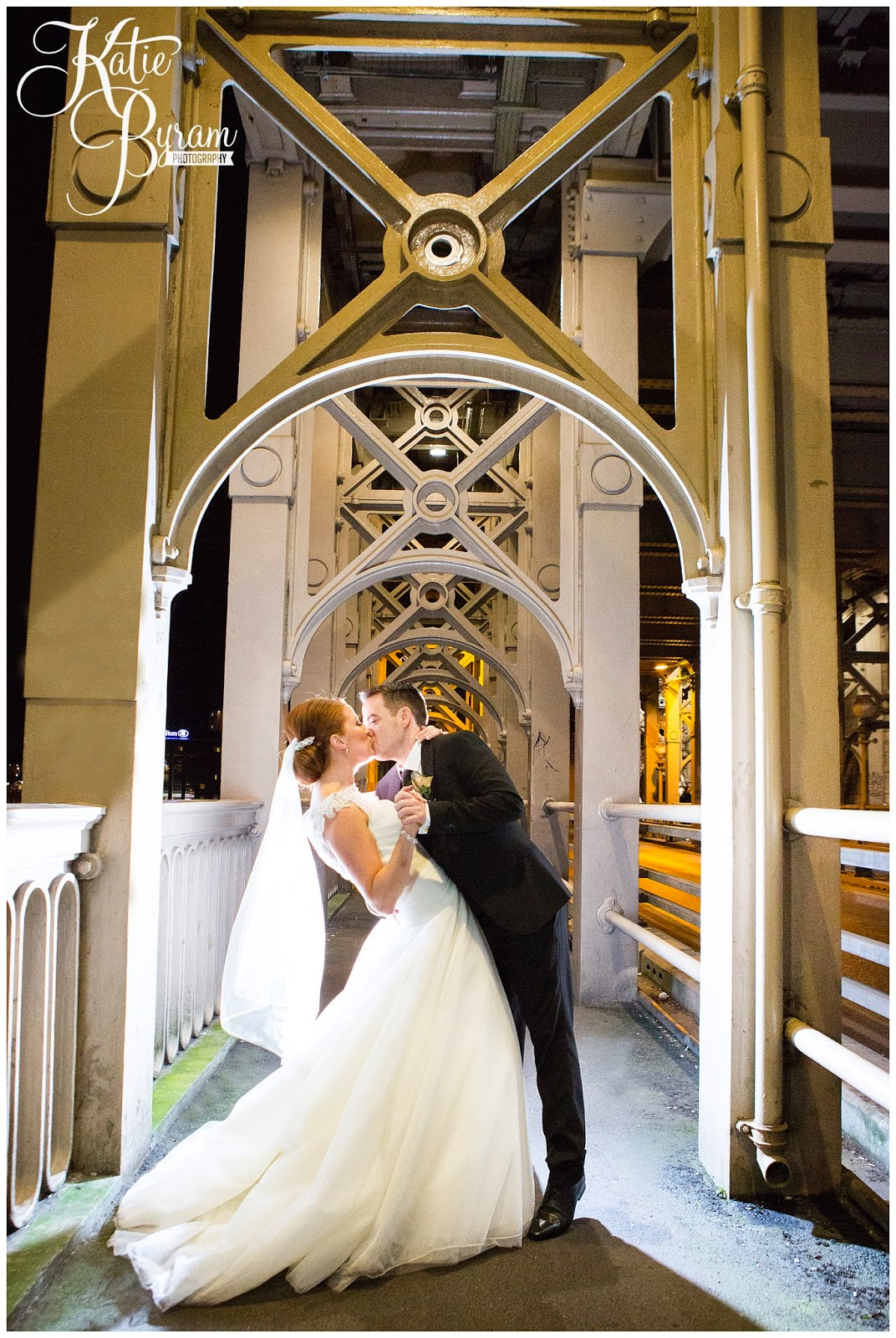 high level bridge wedding, newcastle city centre wedding, the vermont hotel,vermont weddings, newcastle wedding venue, katie byram photography, hotel wedding newcastle, quayside, nighttime wedding photographs