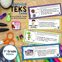 https://www.teacherspayteachers.com/Product/First-Grade-TEKS-Illustrated-and-Organized-733148