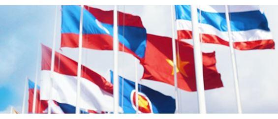 Gambar bendera beberapa negara yang ada di ASEAN