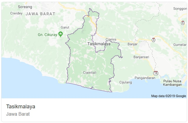 Peta Kab Tasikmalaya