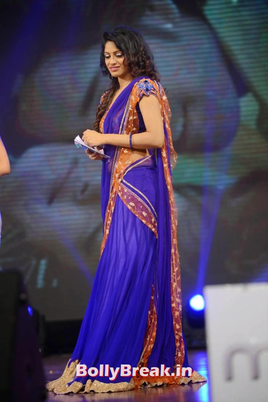 Udaya Bhanu In Blue - Film Actress - 9 Pics
