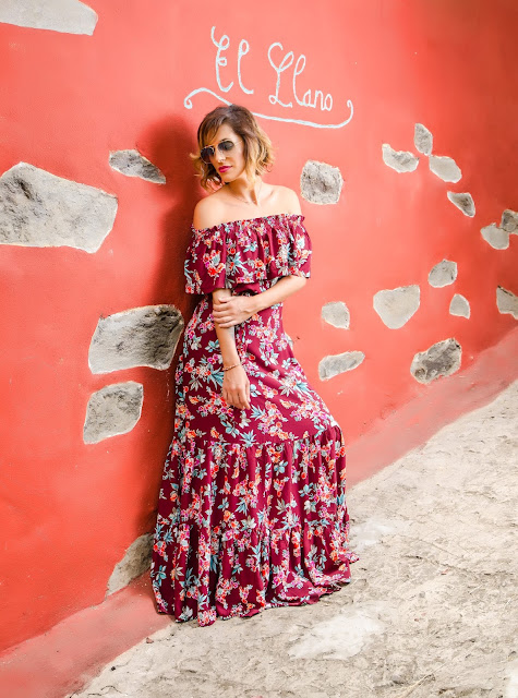 Off-the-shoulder-maxi-dress-with-frill-overlay-Sammydress