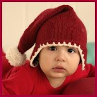 Gorrito navideño en punto