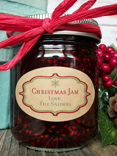 Custom Kraft Christmas Oval Mason Jar Labels