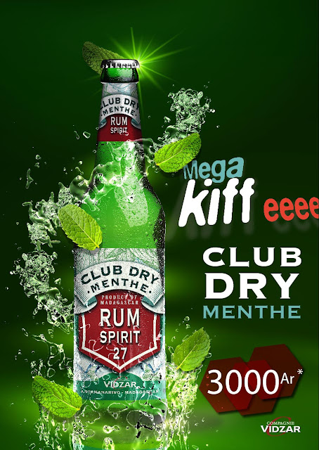 Affiche Club Dry Menthe, Rum Spirit 27