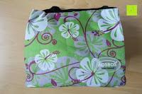 Logo: Aosbos Wasserdichte Lunch Tasche Isolierte Thermo Picknicktasche für Lebensmitteltransport(Grün Blumen)