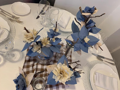 centrotavola matrimonio azzurro