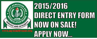 2016/2017 Direct Entry Application Form And How To Apply