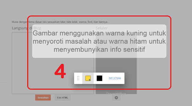 Pesan Not Found Error 404 di Dasbor Template Blog