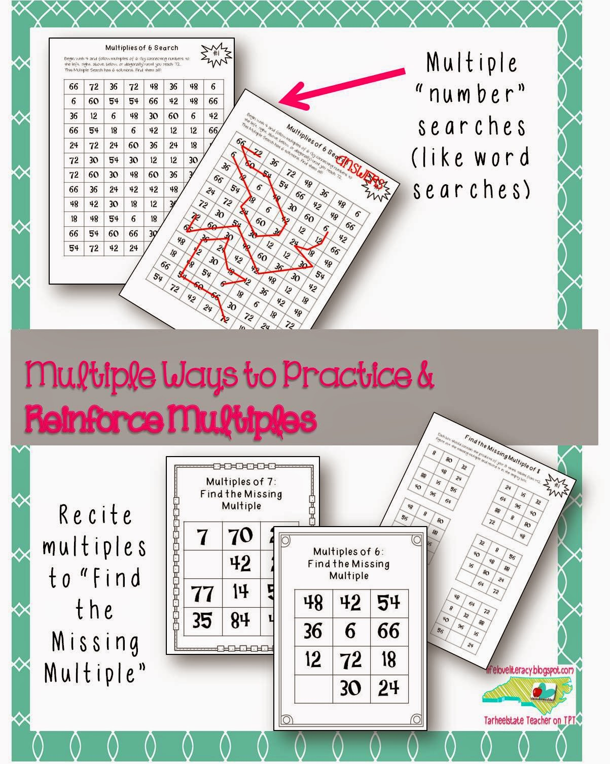 Life Love Literacy Multiplication Factors And