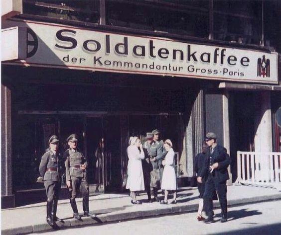 14 June 1940 worldwartwo.filminspector.com Paris coffee shop
