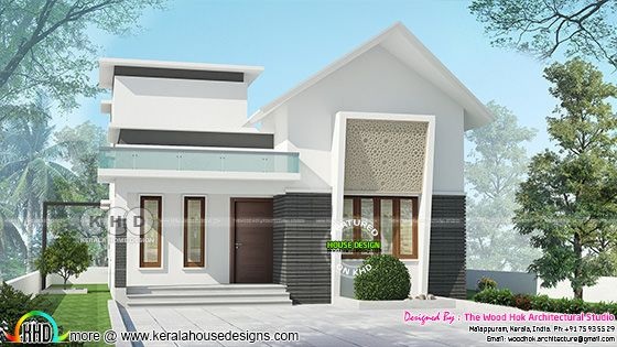 2 Bedroom small Low cost villa plan