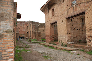 The ruins of the Roman city of Ostia Antica are better  preserved than Pompei yet are much less well known
