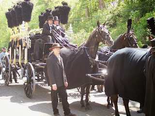 Replica hearse used in 150th Anniversary Lincoln Funeral Procession.